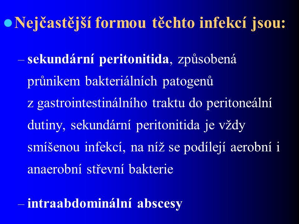 Nejčastější formou těchto infekcí jsou: