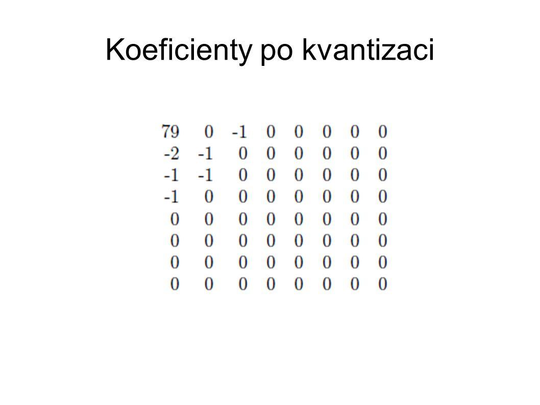 Koeficienty po kvantizaci