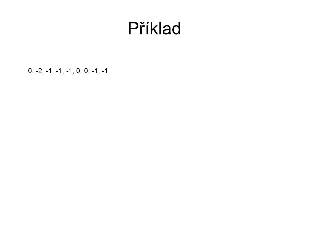 Příklad 0, -2, -1, -1, -1, 0, 0, -1, -1