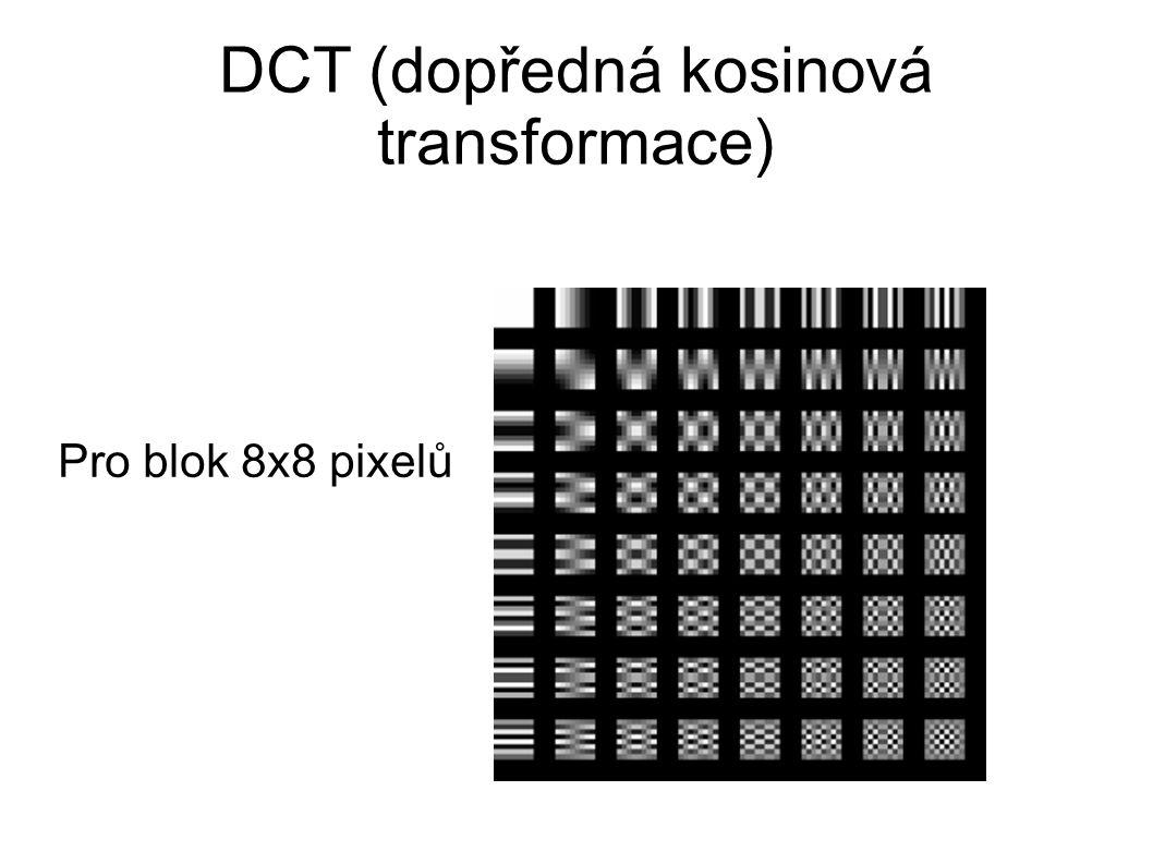 DCT (dopředná kosinová transformace)