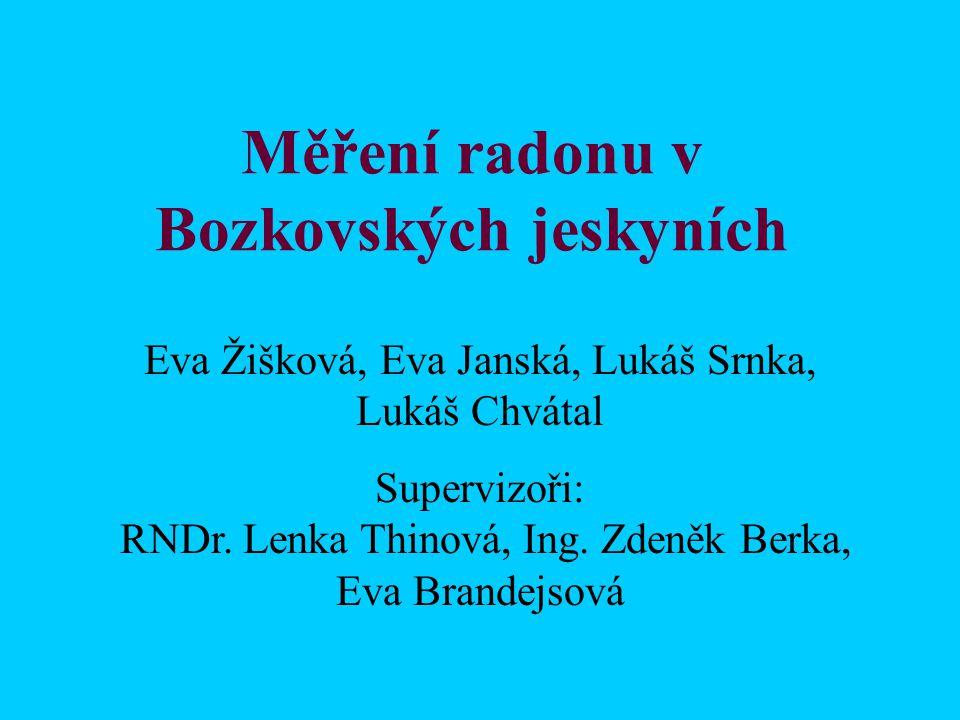 Měření radonu v Bozkovských jeskyních