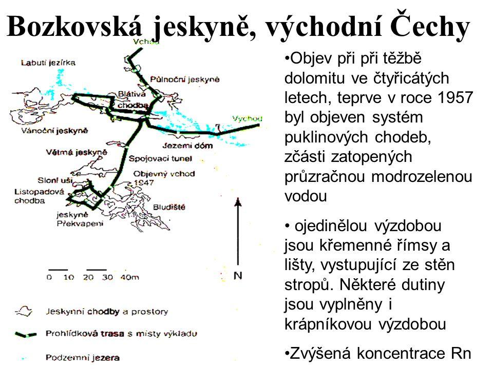 Bozkovská jeskyně, východní Čechy