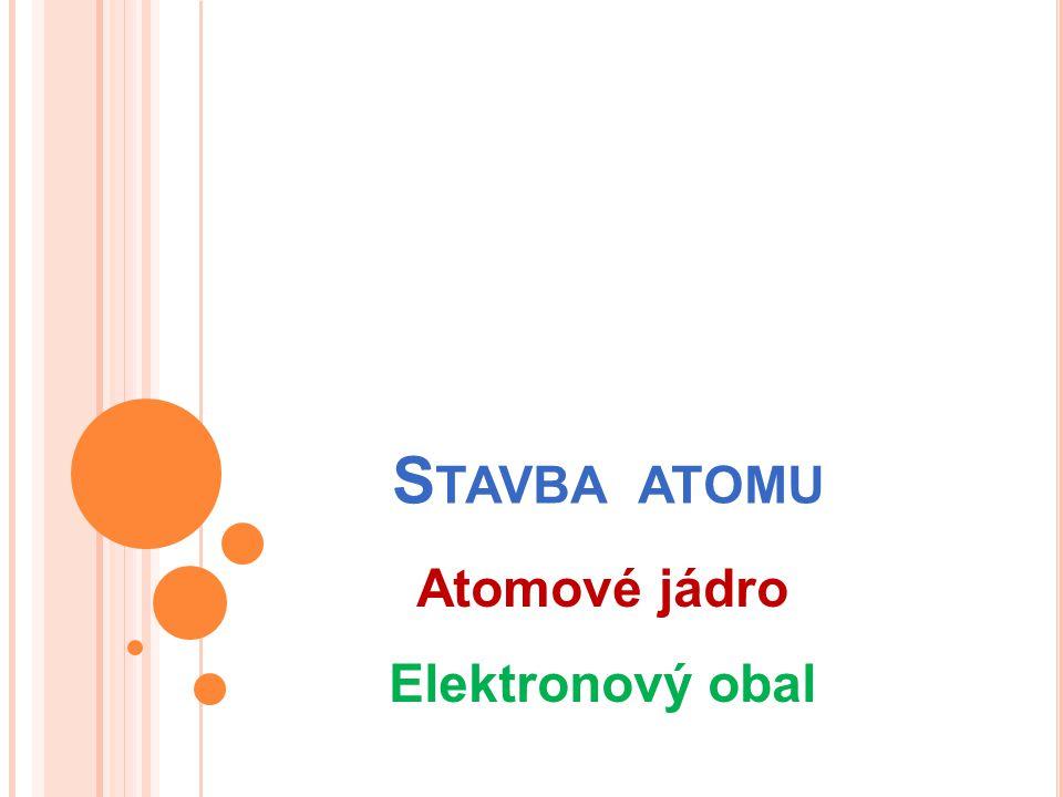 Stavba atomu Atomové jádro Elektronový obal