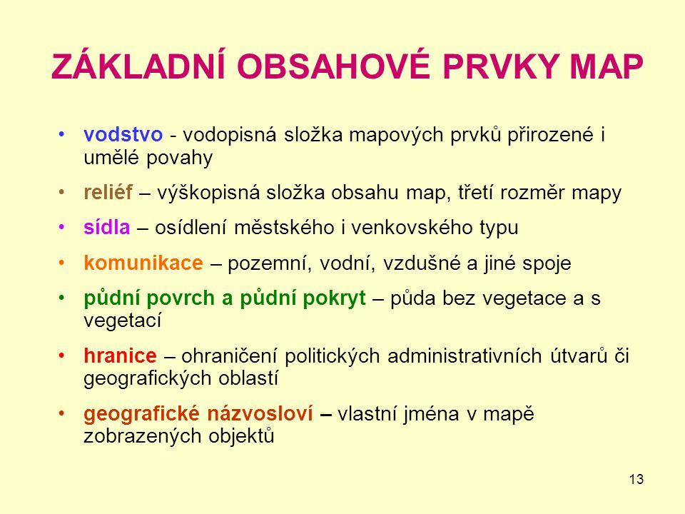ZÁKLADNÍ OBSAHOVÉ PRVKY MAP