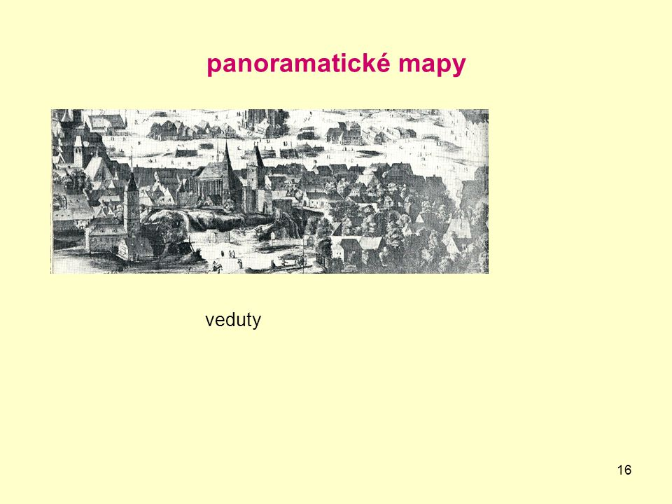 panoramatické mapy veduty