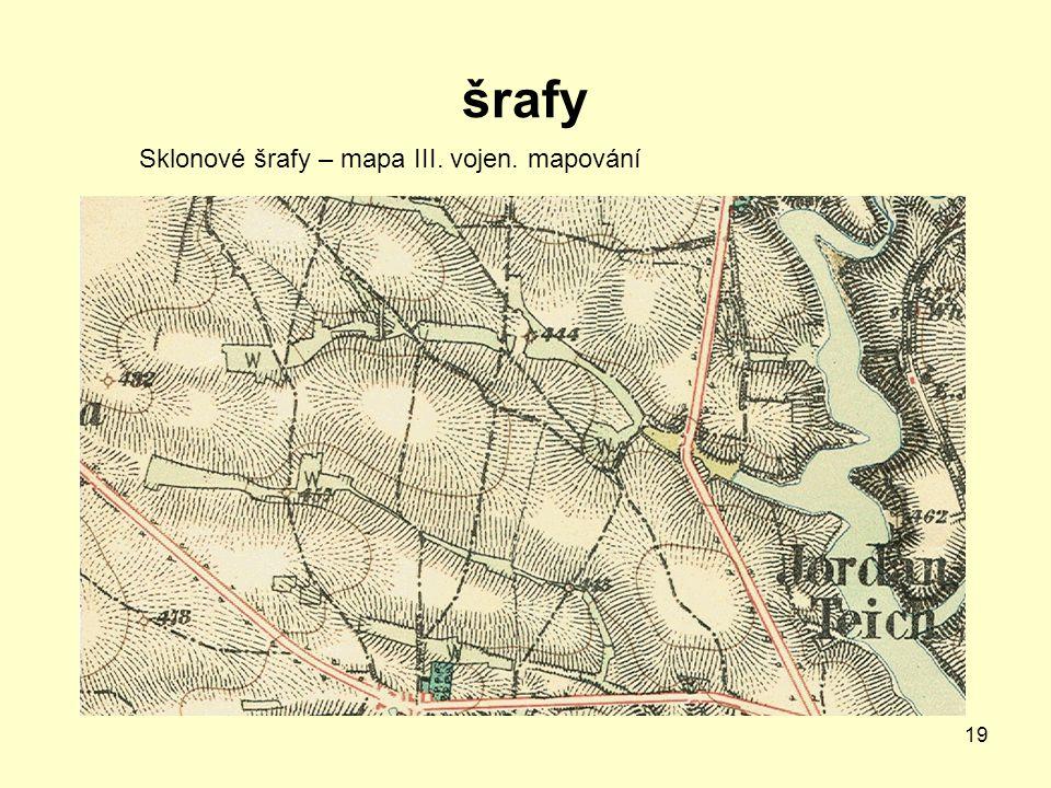 šrafy Sklonové šrafy – mapa III. vojen. mapování