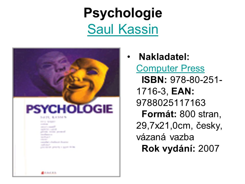 Psychologie Saul Kassin