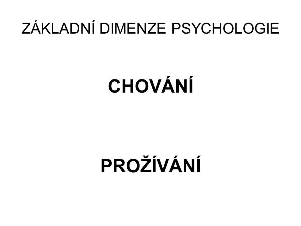 ZÁKLADNÍ DIMENZE PSYCHOLOGIE
