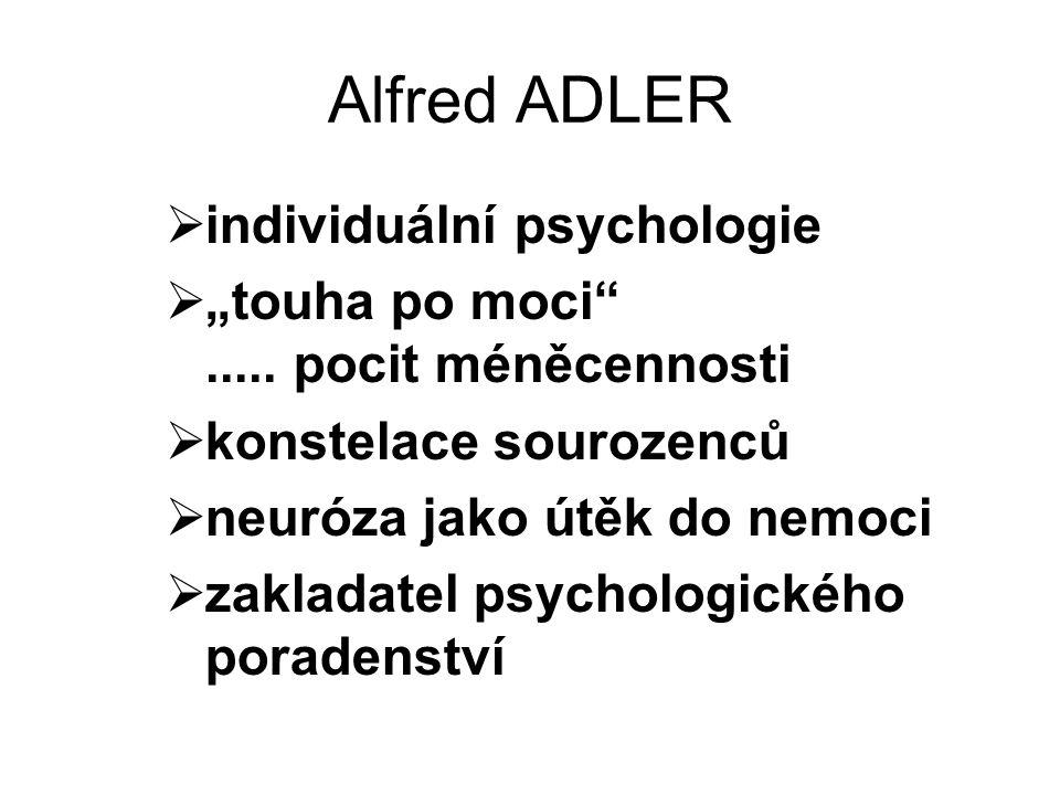 Alfred ADLER individuální psychologie