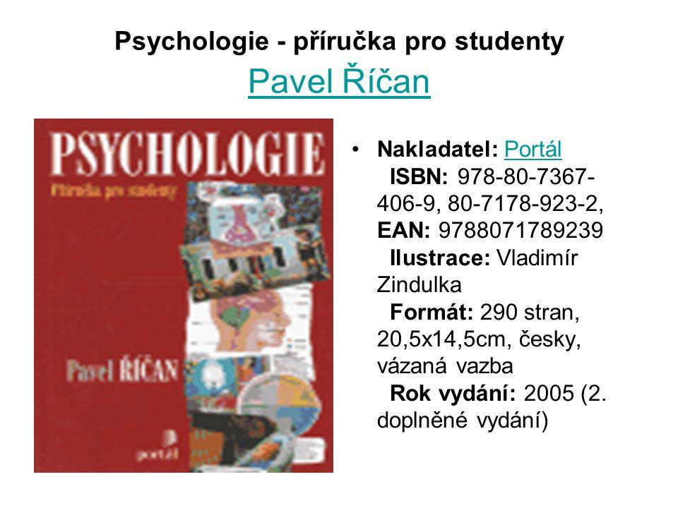Psychologie - příručka pro studenty Pavel Říčan
