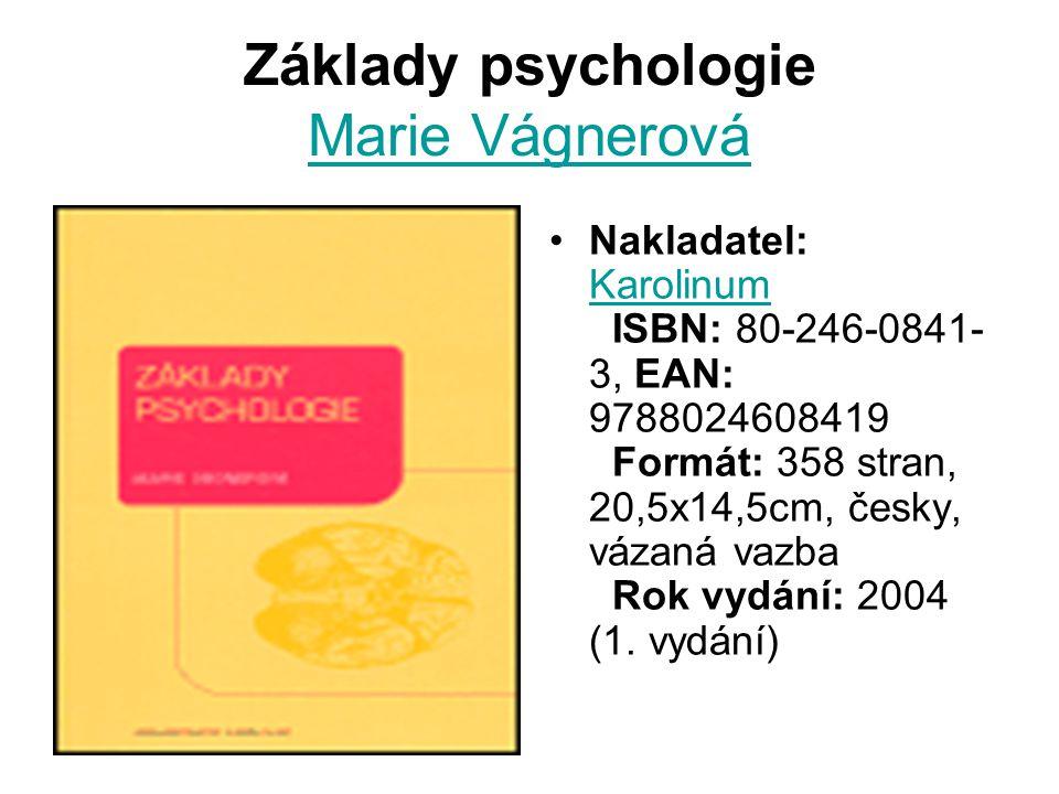Základy psychologie Marie Vágnerová