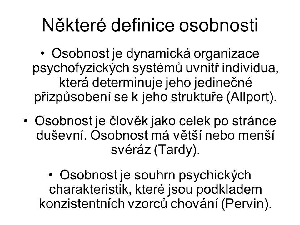 Některé definice osobnosti