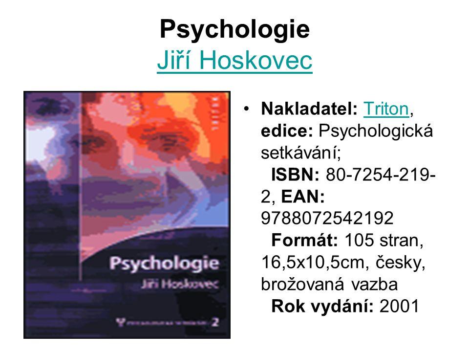 Psychologie Jiří Hoskovec
