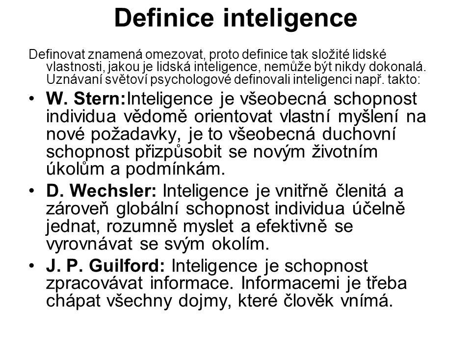 Definice inteligence