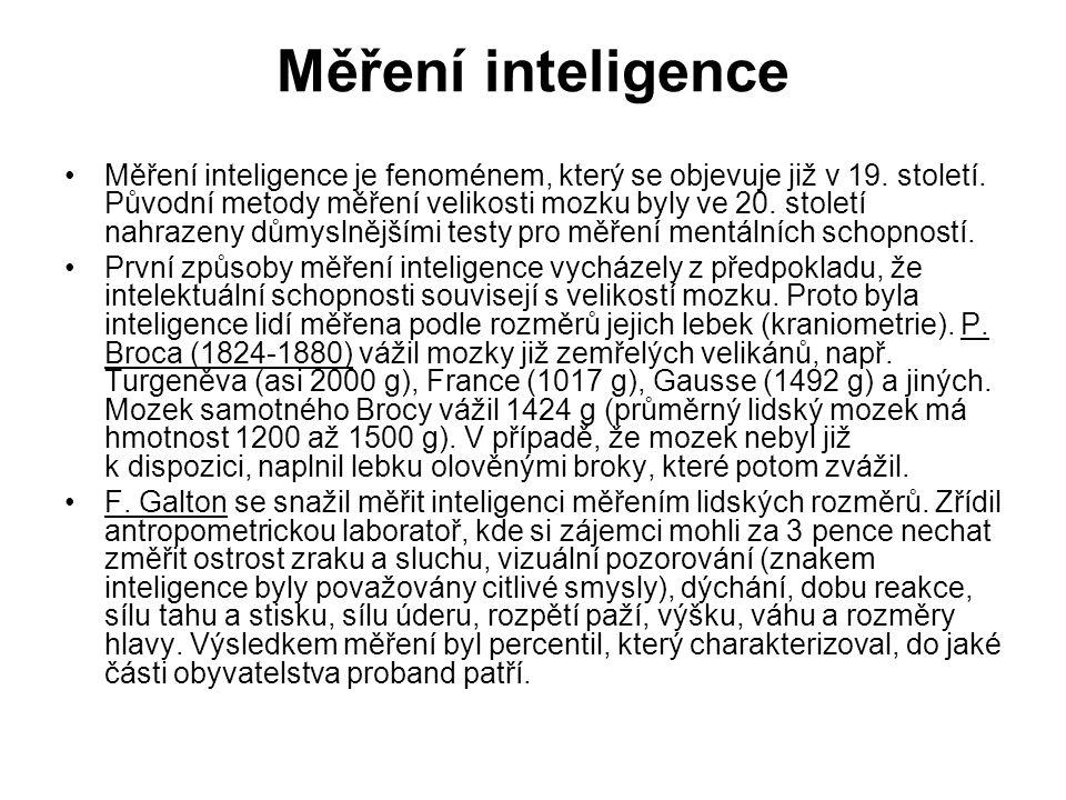 Měření inteligence
