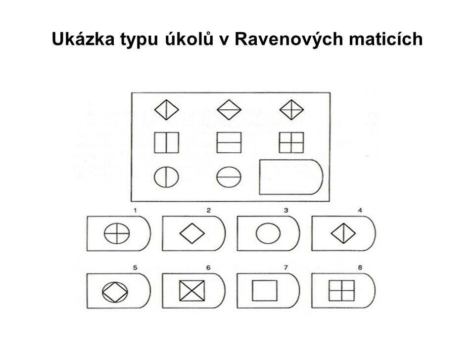 Ukázka typu úkolů v Ravenových maticích