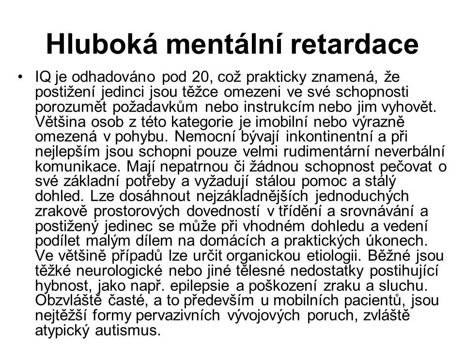 Hluboká mentální retardace