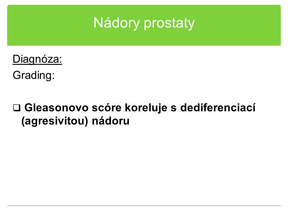 Nádory prostaty Diagnóza: Grading: