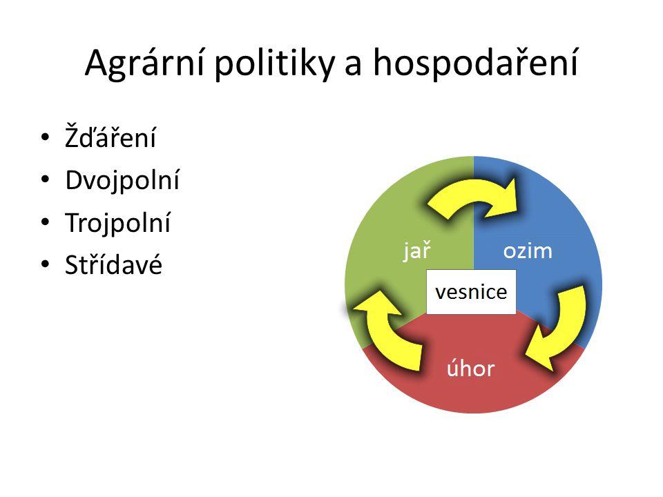 Agrární politiky a hospodaření