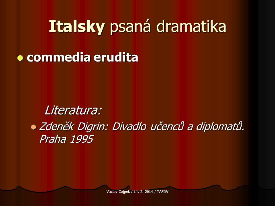 Italsky psaná dramatika
