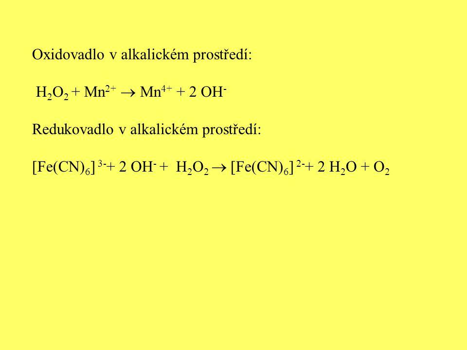 Oxidovadlo v alkalickém prostředí: