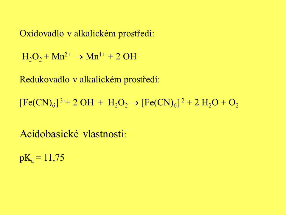 Acidobasické vlastnosti: