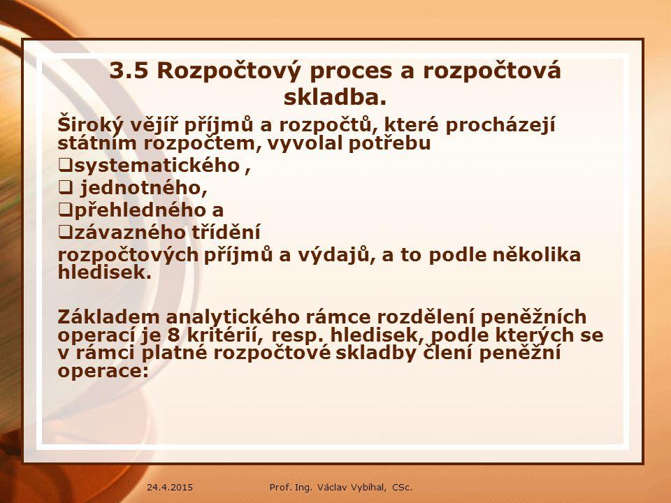 3.5 Rozpočtový proces a rozpočtová skladba.