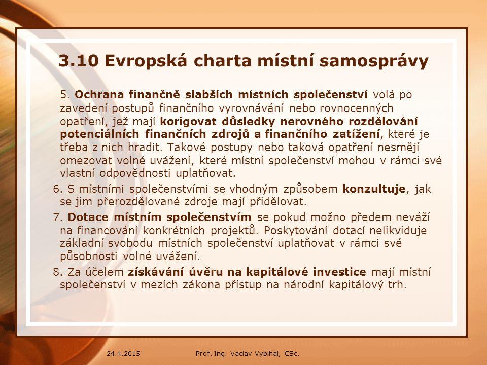 3.10 Evropská charta místní samosprávy