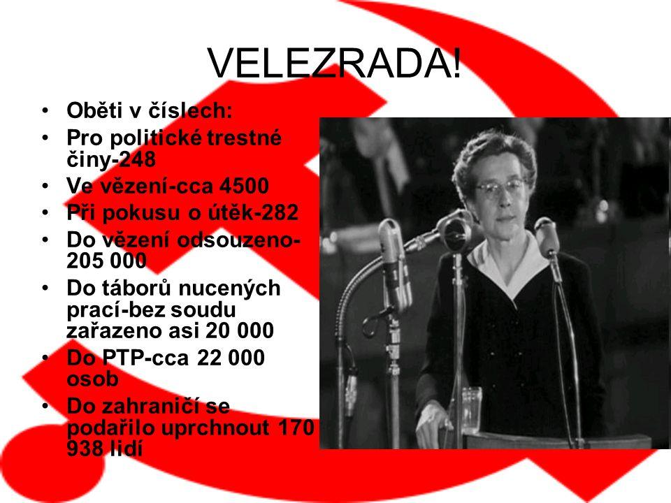 VELEZRADA! Oběti v číslech: Pro politické trestné činy-248