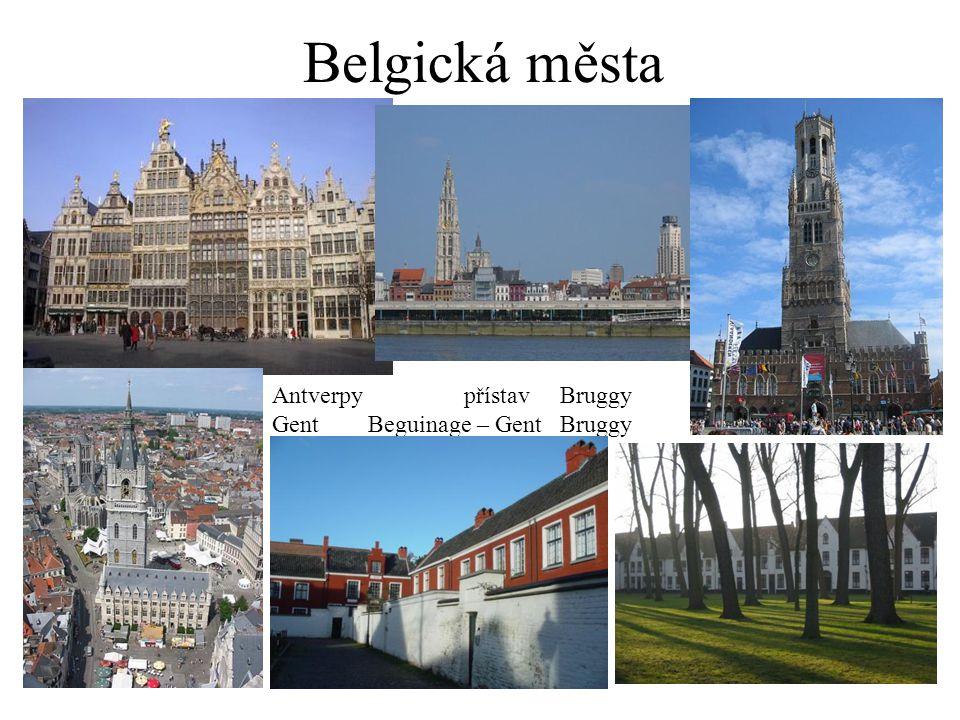 Belgická města Antverpy přístav Bruggy Gent Beguinage – Gent Bruggy