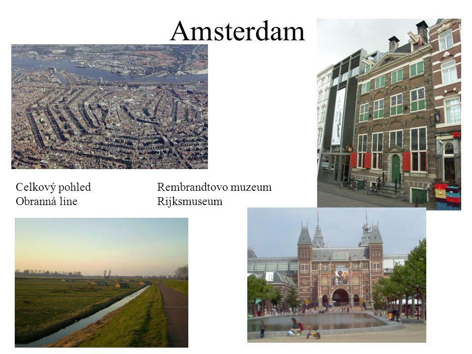 Amsterdam Celkový pohled Rembrandtovo muzeum Obranná line Rijksmuseum