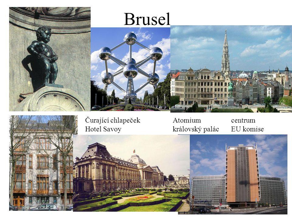 Brusel Čurající chlapeček Atomium centrum
