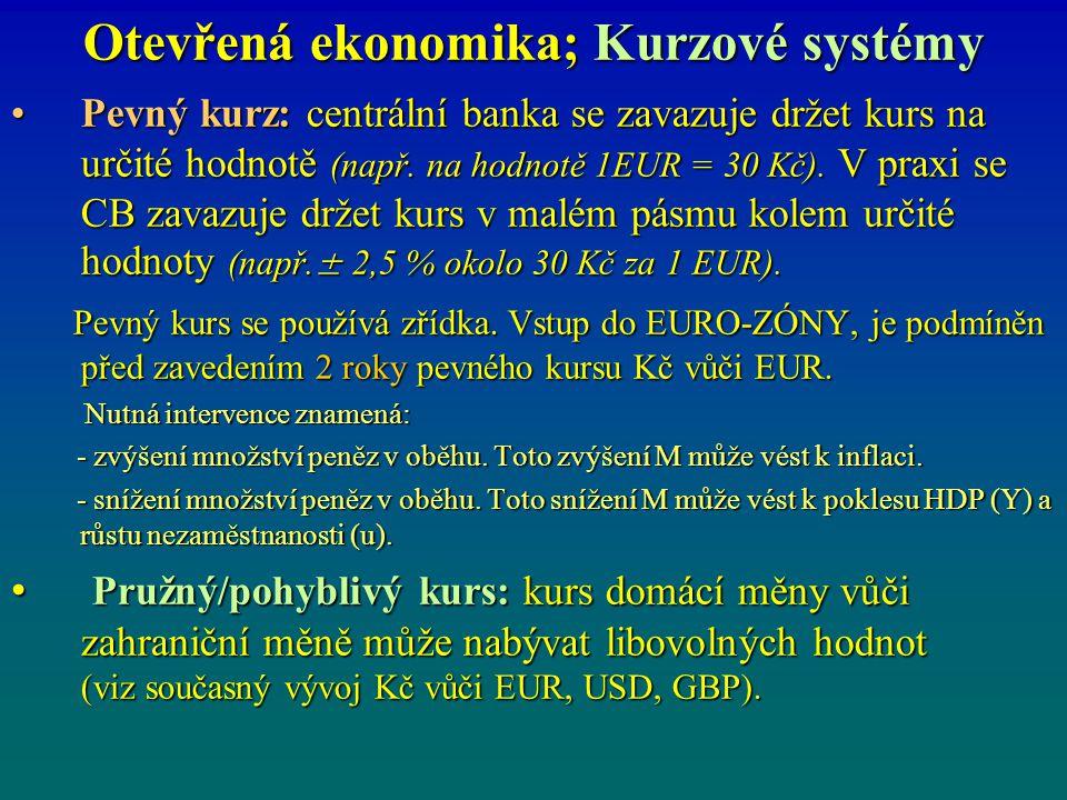 Otevřená ekonomika; Kurzové systémy