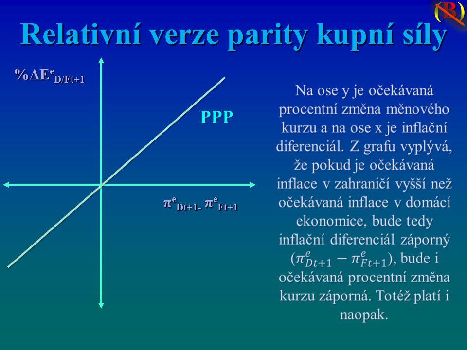 Relativní verze parity kupní síly