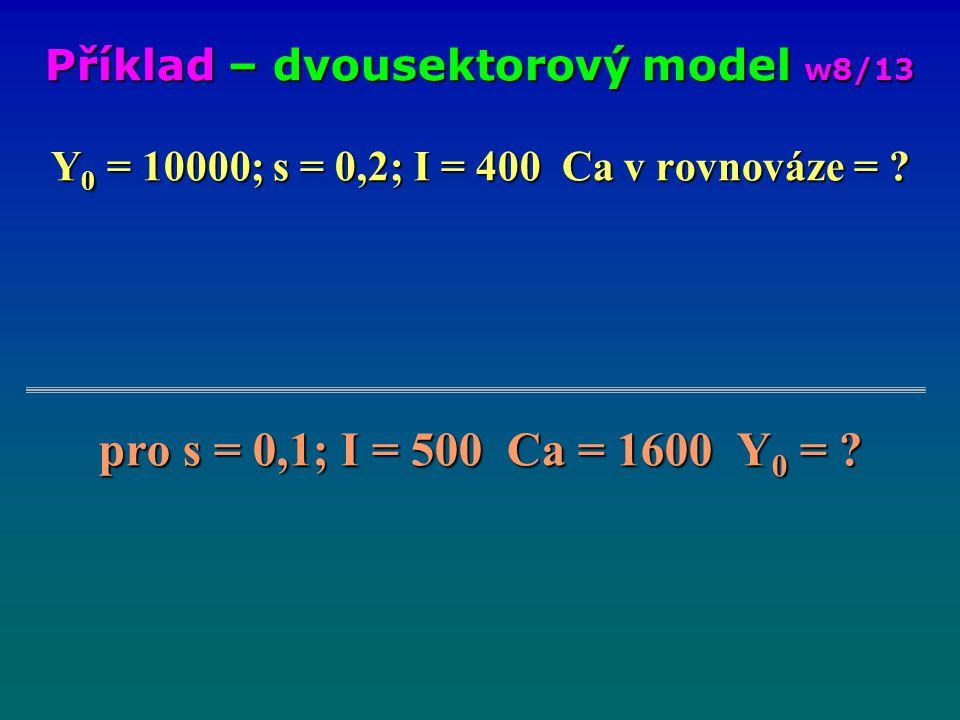 Příklad – dvousektorový model w8/13