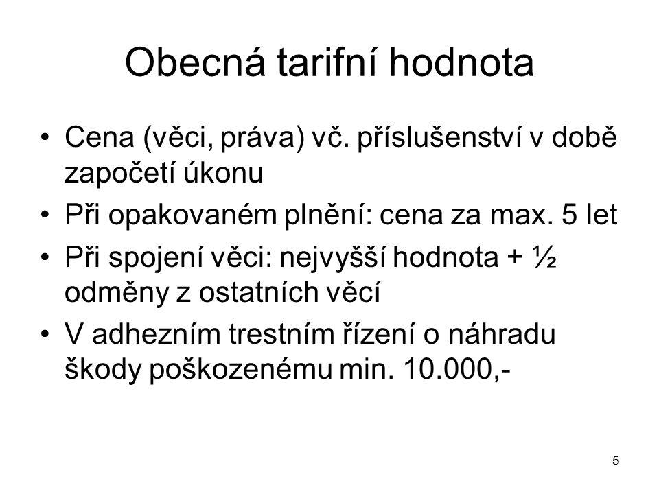 Obecná tarifní hodnota