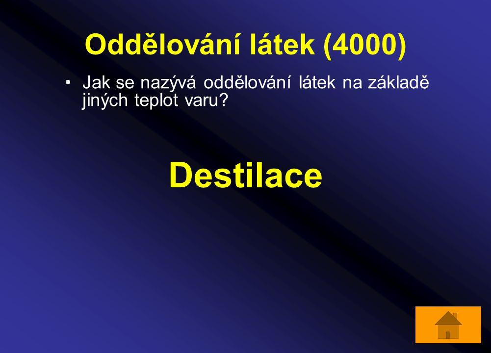 Destilace Oddělování látek (4000)
