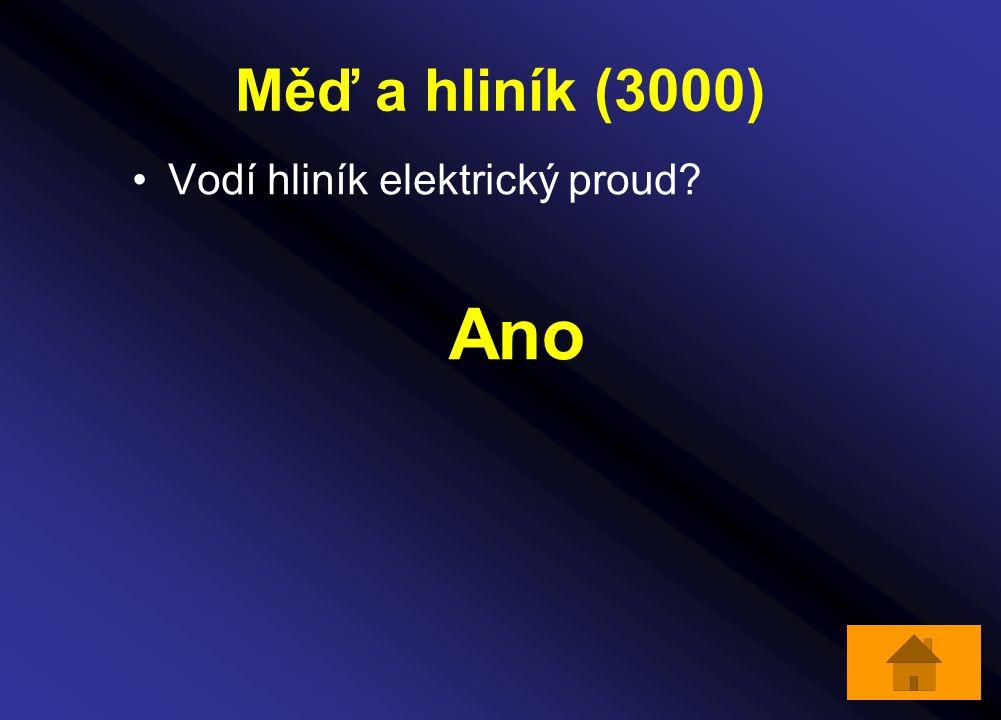 Měď a hliník (3000) Vodí hliník elektrický proud Ano
