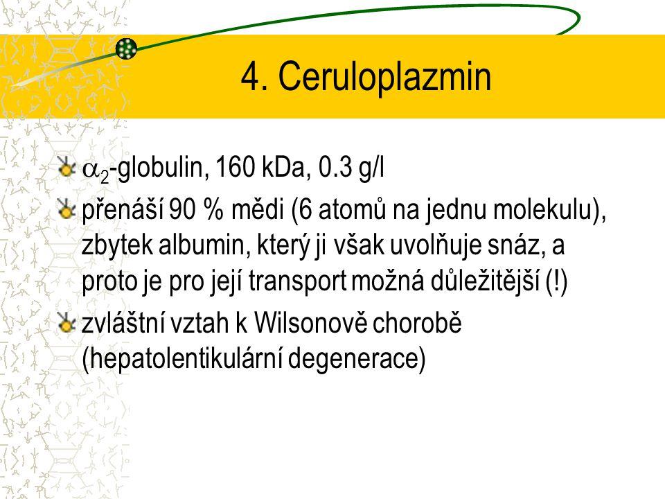 4. Ceruloplazmin 2-globulin, 160 kDa, 0.3 g/l