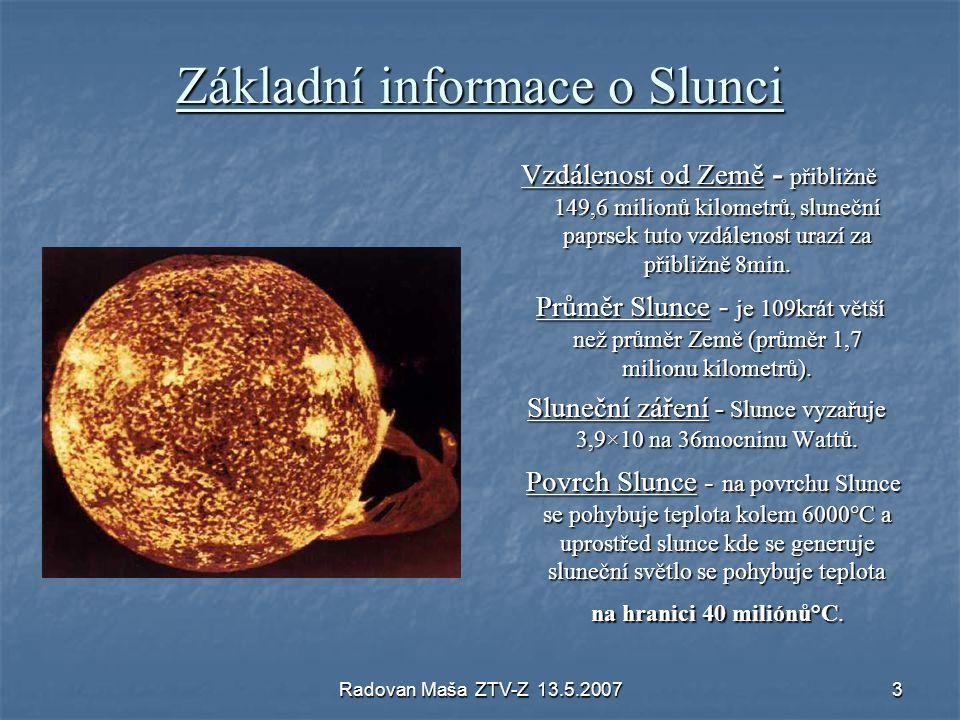 Základní informace o Slunci