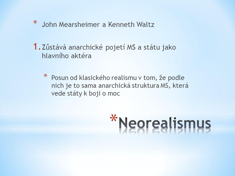 Neorealismus John Mearsheimer a Kenneth Waltz
