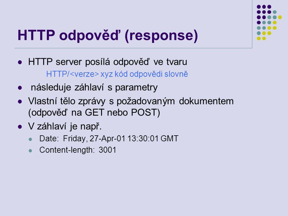 HTTP odpověď (response)