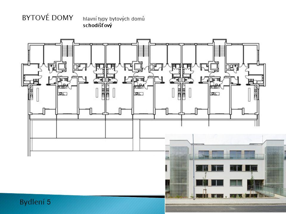 BYTOVÉ DOMY hlavní typy bytových domů schodišťový