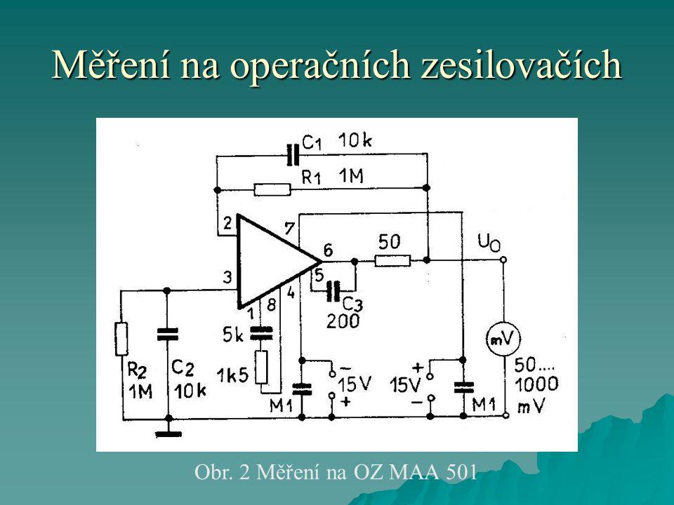 Měření na operačních zesilovačích