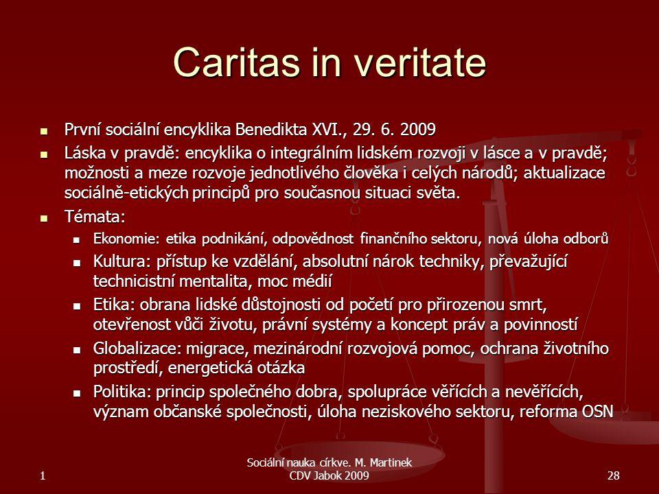 Sociální nauka církve. M. Martinek CDV Jabok 2009