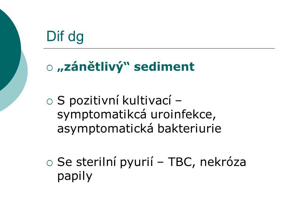 "Dif dg ""zánětlivý sediment"