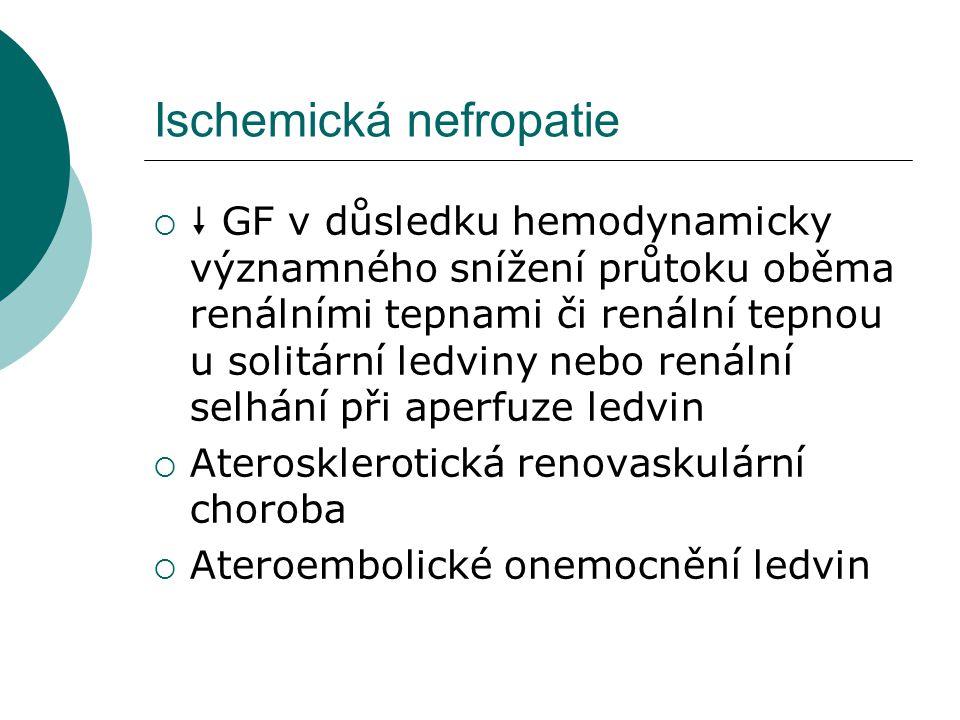Ischemická nefropatie