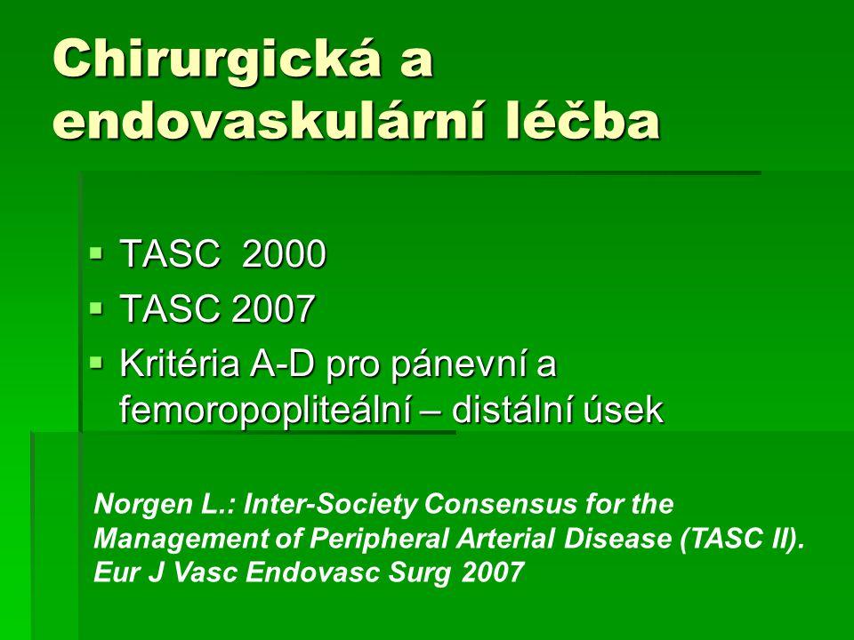 Chirurgická a endovaskulární léčba