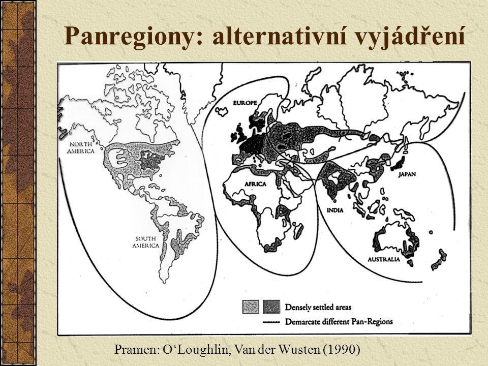 Panregiony: alternativní vyjádření