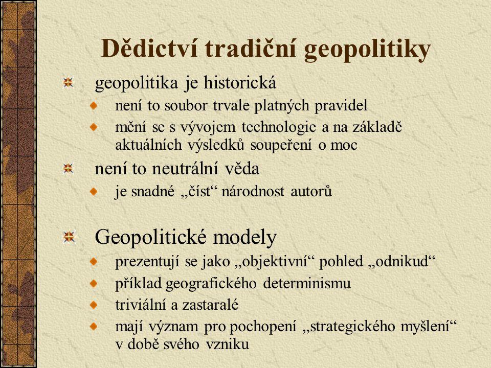 Dědictví tradiční geopolitiky